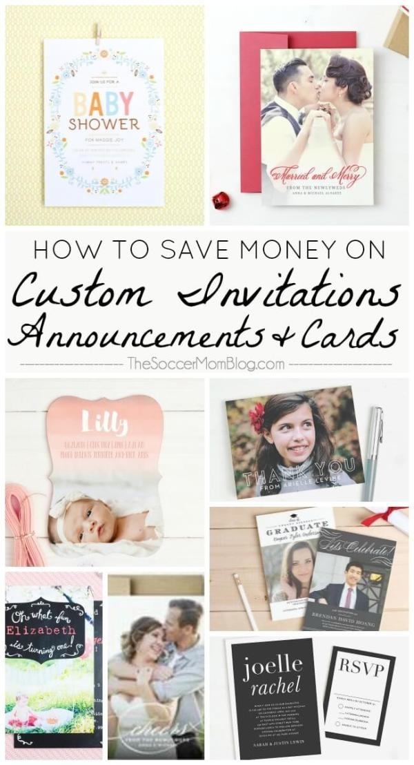 The most special moments in your life deserve to be remembered forever! Pro tips to save money on custom invitations, cards, and announcements.