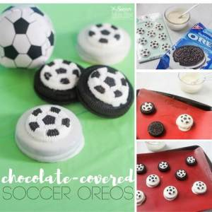 occer-themed kids birthday party or post practice treat! Chocolate covered soccer Oreos are an easy dessert recipe & guaranteed crowd-pleaser!