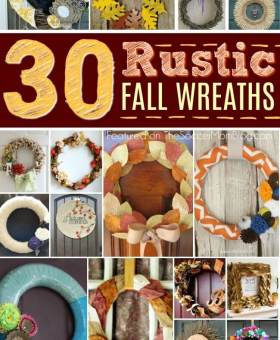 30+ Gorgeous Rustic Fall Wreaths