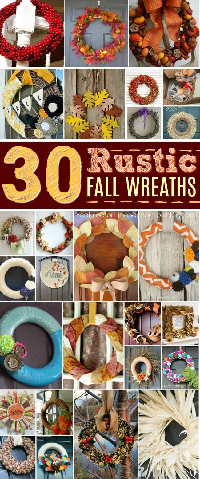 Add the perfect touch of rustic farmhouse curb appeal to your porch with this awesome collection of DIY fall wreaths!