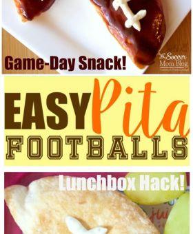 Easy Pita Football Appetizer
