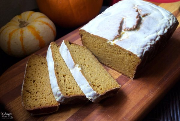 "Gluten free and guilt free ""Better than Starbucks Pumpkin Loaf"" is moist, decadent, and made with healthy ingredients - Topped with ""magic"" coconut oil white chocolate glaze. A holiday dessert you can feel GOOD about!"