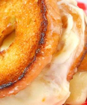 Carnival Style Donut Grilled Cheese