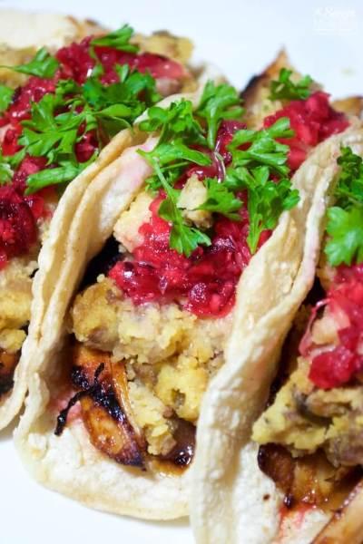 Leftover Turkey Dinner Tacos