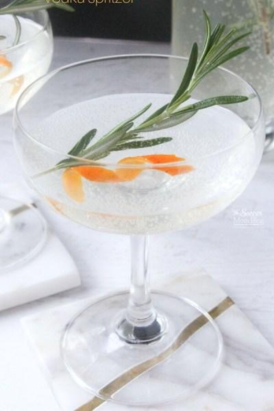 Rosemary Orange Vodka Spritzer