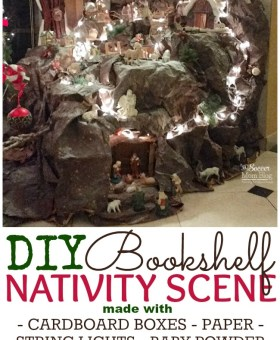 Bookshelf DIY Nativity Scene