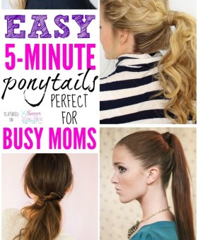 5 Minute Ponytail Ideas for Busy Moms