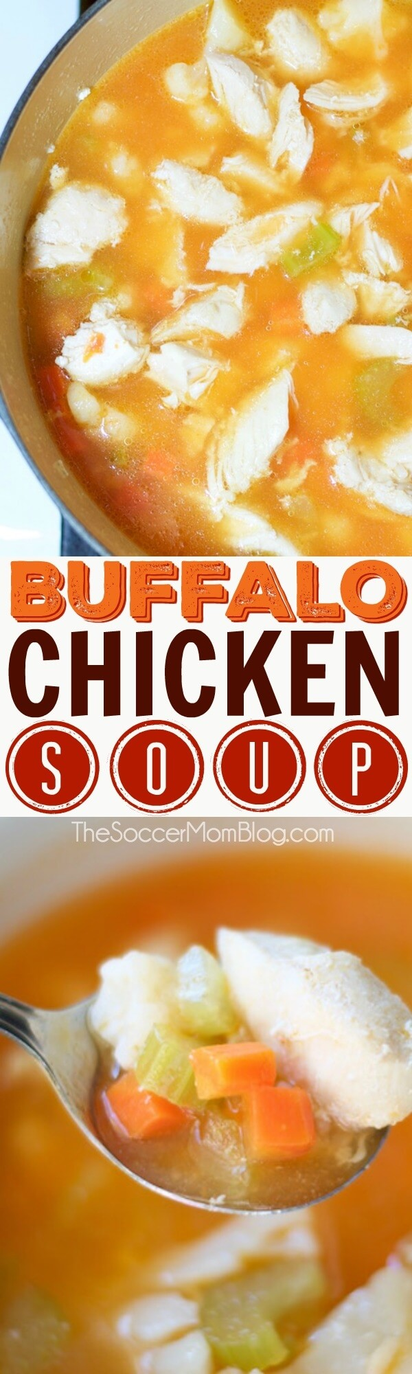 This zesty Buffalo Chicken Soup is sure to be a new family favorite! An easy recipe that will have dinner on the table in 30 minutes!