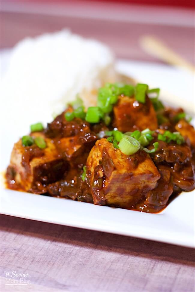 Spice up your dinner routine with this flavor-packed Chinese MaPo Tofu! A vegetarian version of a traditional Sichuan recipe that you can make at home.