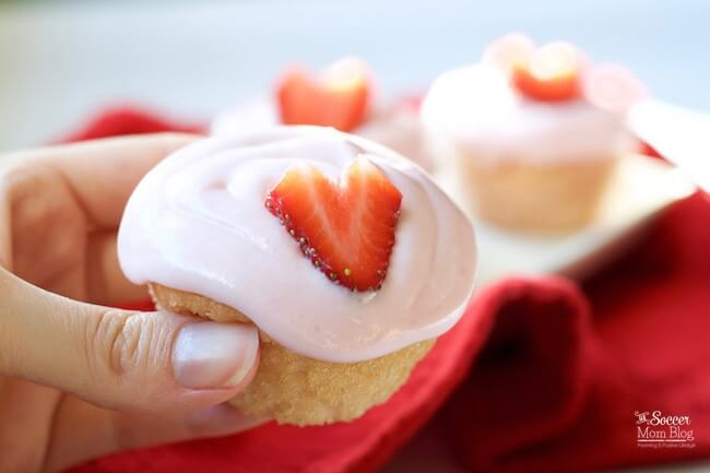 Light, fluffy, and made with real fruit - these Gluten Free Strawberry Cupcakes are the perfect Valentine's Day treat!