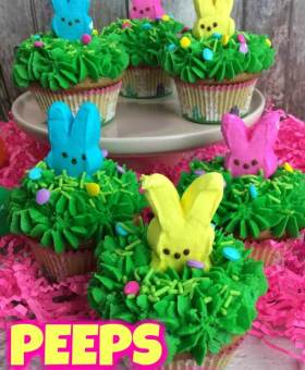 Peeps Easter Bunny Cupcakes