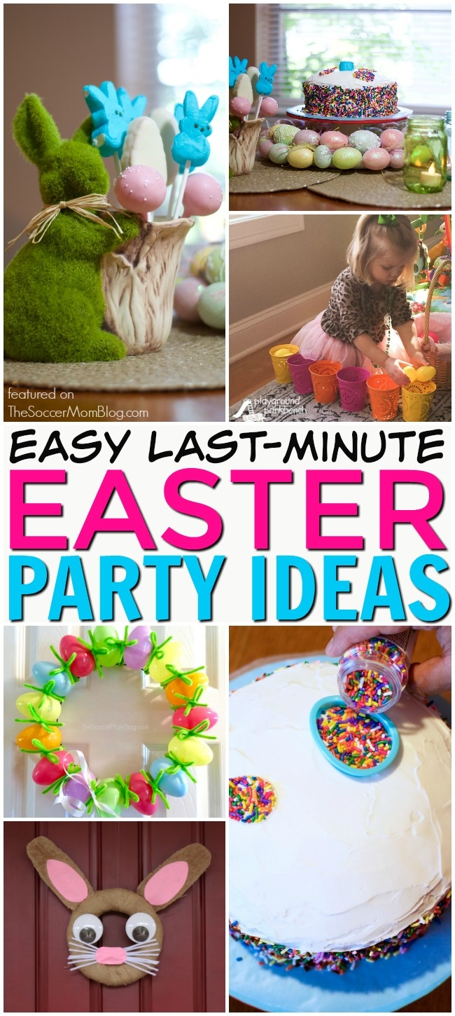 Create a fun and festive holiday get-together — even when you're short on time — with these clever last-minute Easter Party Ideas.