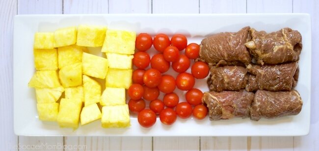 A taste of the islands! These Grilled Hawaiian Steak Skewers are a quick and easy main course perfect for a summer barbecue or a weeknight dinner.