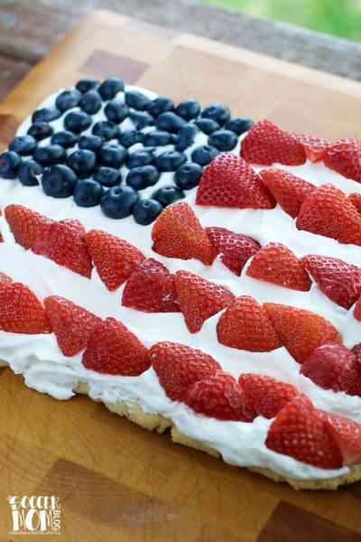 American Flag Fruit Pizza (Gluten Free) w/ VIDEO