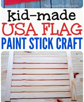 Wooden American Flag Kids Paint Stick Craft