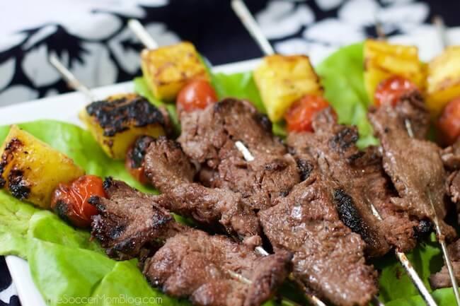 Easy Grilled Hawaiian Steak Skewers Recipe