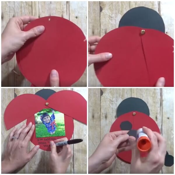 Show your appreciation for your hard-working educators with an adorable kid-made Ladybug Teacher Thank You Card. Easy paper craft and keepsake photo gift.