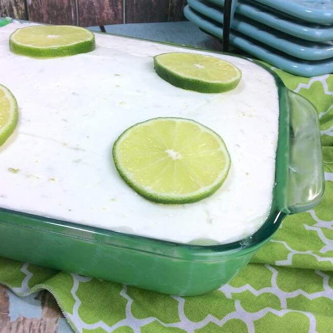 A new twist on a summer classic — this key lime poke cake will have you dreaming of sunny days & ocean waves! An easy dessert with tangy lime in every bite!