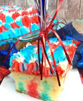 Red White & Blue Jello Poke Cake Recipe
