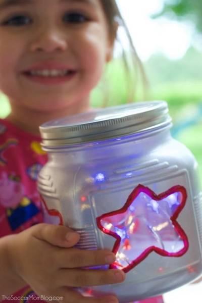 Patriotic Mason Jar Lanterns (VIDEO)