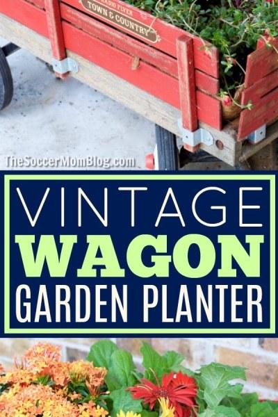 Create a Vintage Wagon Garden Planter in 30 Minutes