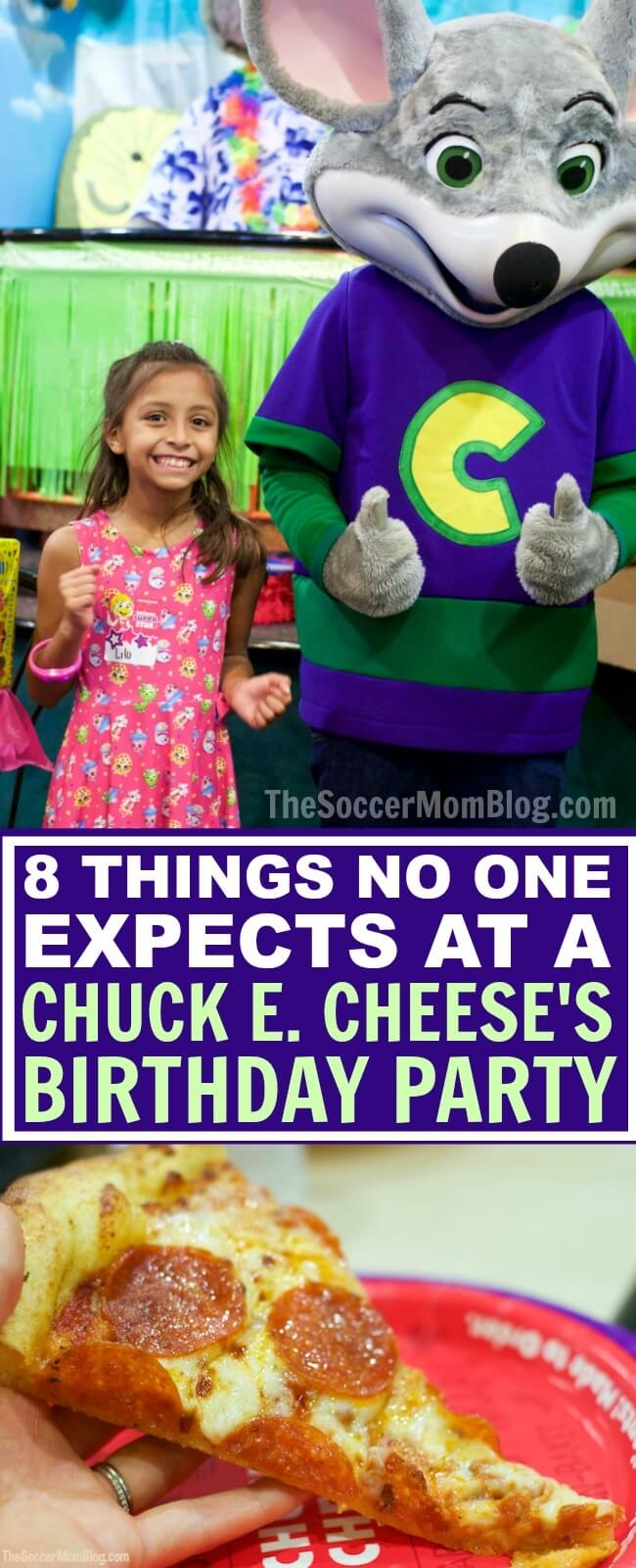 If you already have a pre-conceived notion about what a Chuck E. Cheese's party is like -- STOP right there! THIS is what you didn't know...