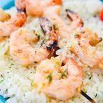 Grilled Garlic Butter Shrimp Skewers