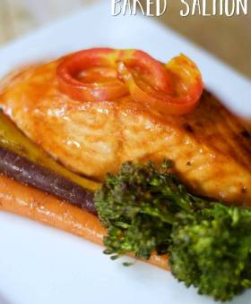 Perfect Baked Salmon in Foil with Honey Sriracha Glaze