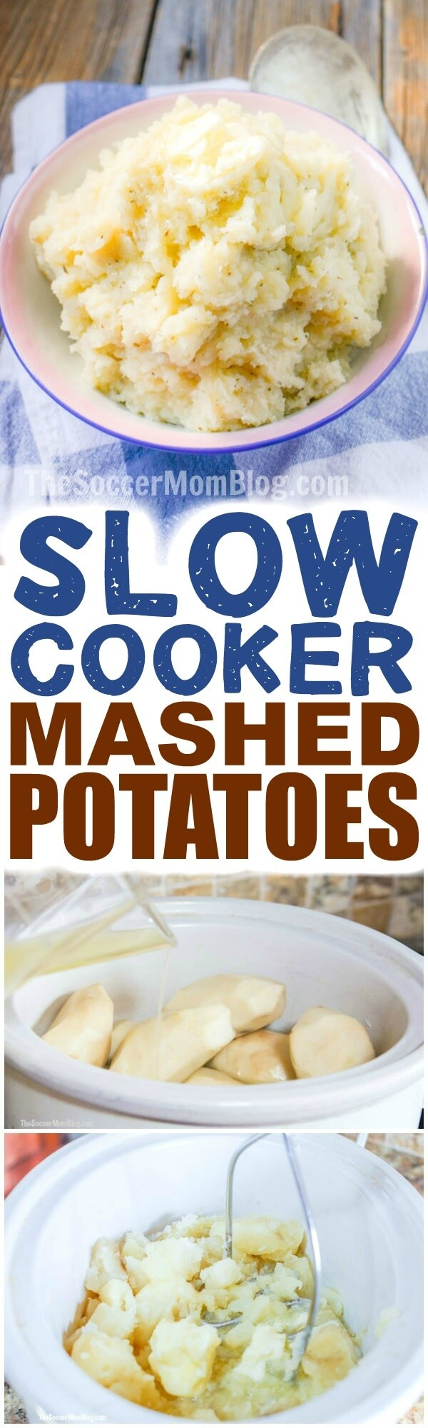 Crockpot Mashed Potatoes are a super easy way to make everyone's favorite holiday side dish!