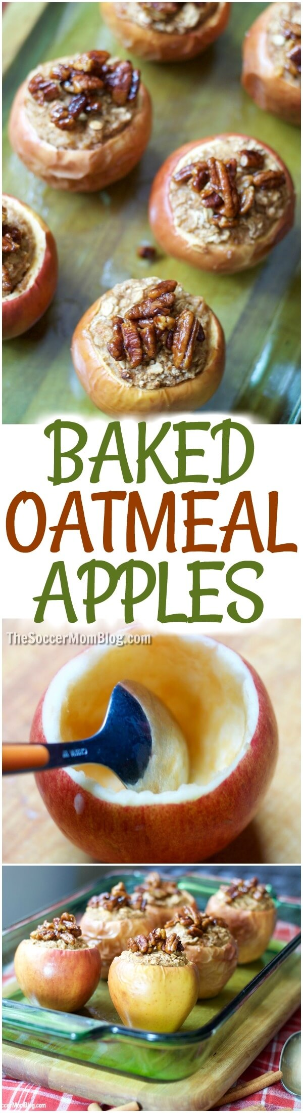 The perfect fall breakfast - Baked Oatmeal Stuffed Apples are kid-approved and easy to make ahead for the week!