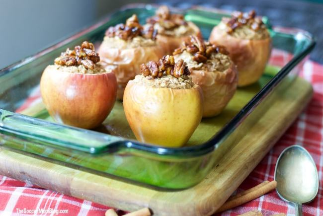 One taste of these cinnamon oatmeal stuffed apples and you'll never look at oatmeal the same again! A fun and healthy dessert or breakfast treat!