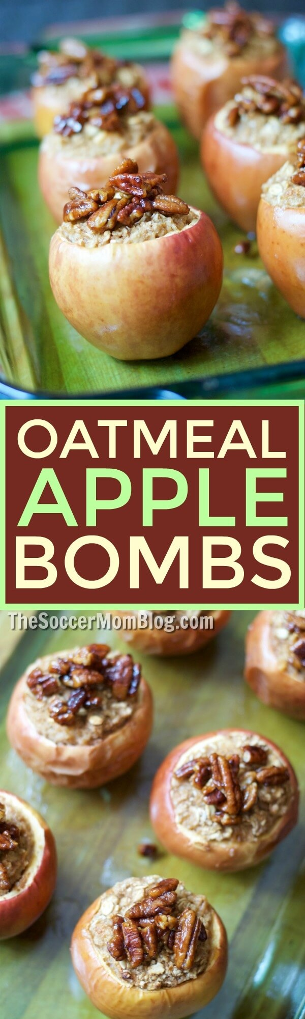 One taste of these cinnamon oatmeal stuffed apples and you'll never look at oatmeal the same again! Enjoy as a healthy dessert or unique breakfast!