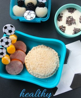 Healthy Soccer Themed Kids Lunch