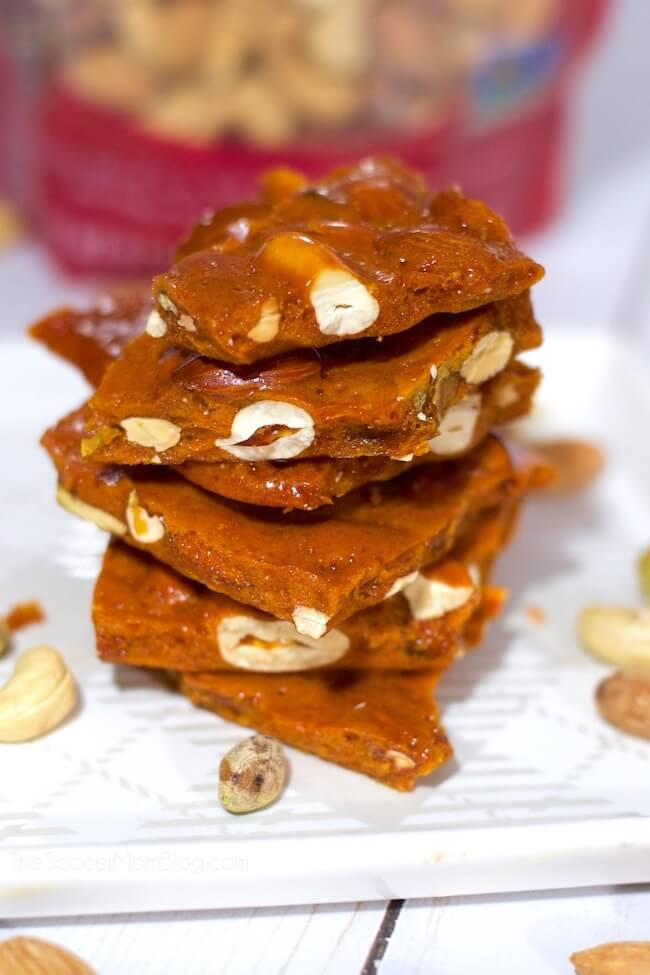 Melt in your mouth homemade nut & honey candy is the perfect combination of sweet & salty!