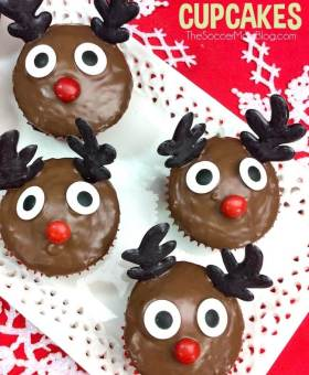 Double Chocolate Rudolph Cupcakes