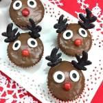 Rudolph Cupcakes - cute kids Christmas dessert