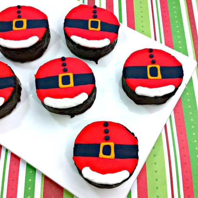 Mini Santa Belly Cakes