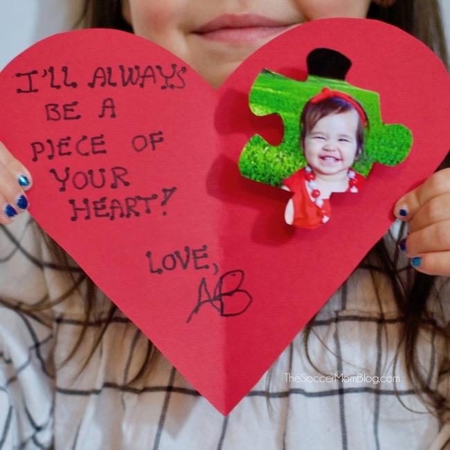 piece of my heart kid valentine card craft - Kid Valentines