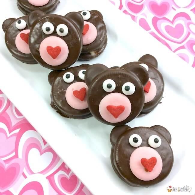 Teddy Bear Oreos on In The Kids Kitchen
