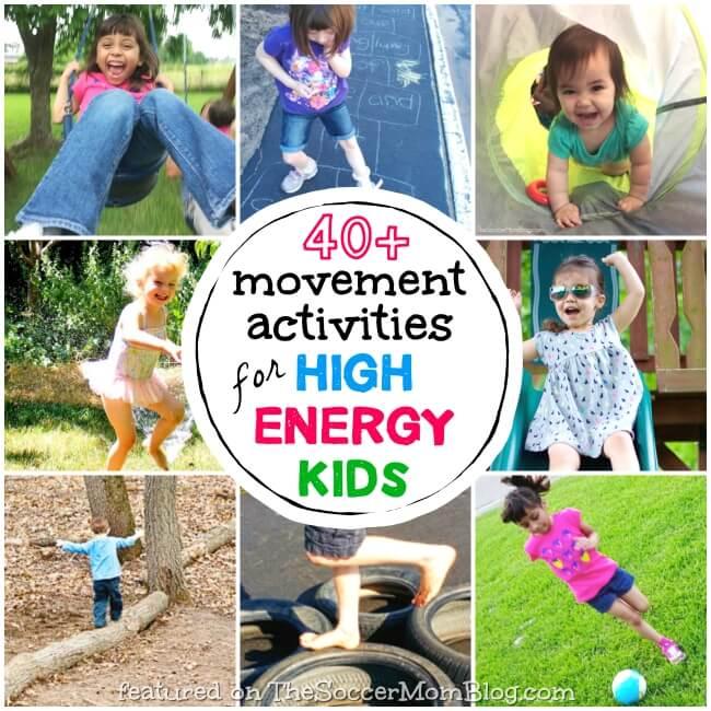 BIG list of movement activities for active kids