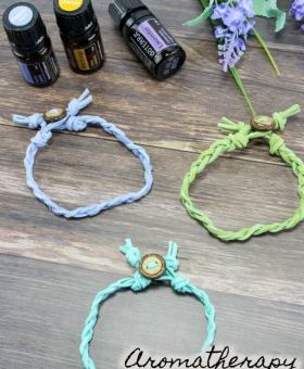 DIY Braided Essential Oil Diffuser Bracelets