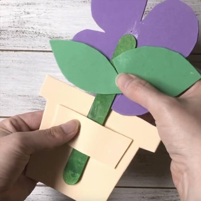 flower popsicle stick craft