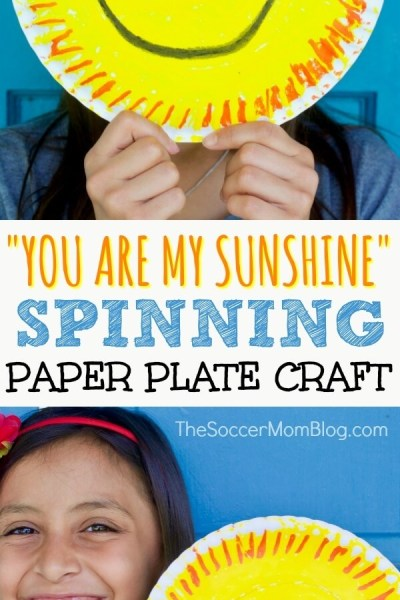 """""""You Are My Sunshine"""" Paper Plate Craft"""