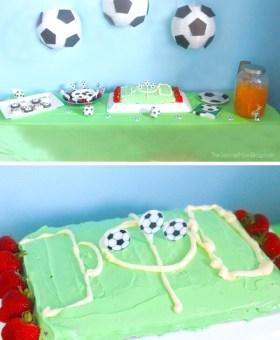 Easy Soccer Birthday Cake