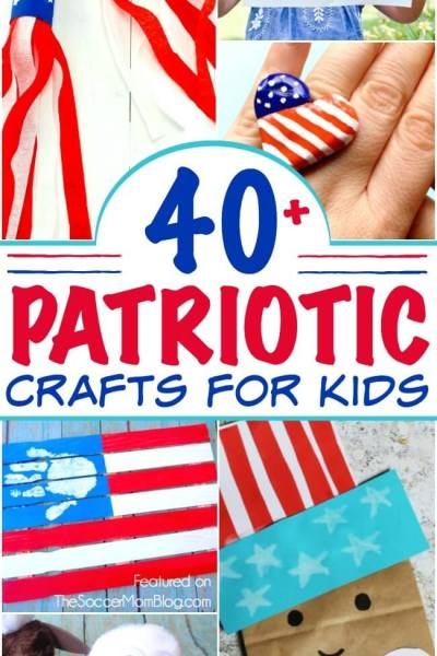 40+ Patriotic 4th of July Crafts for Kids