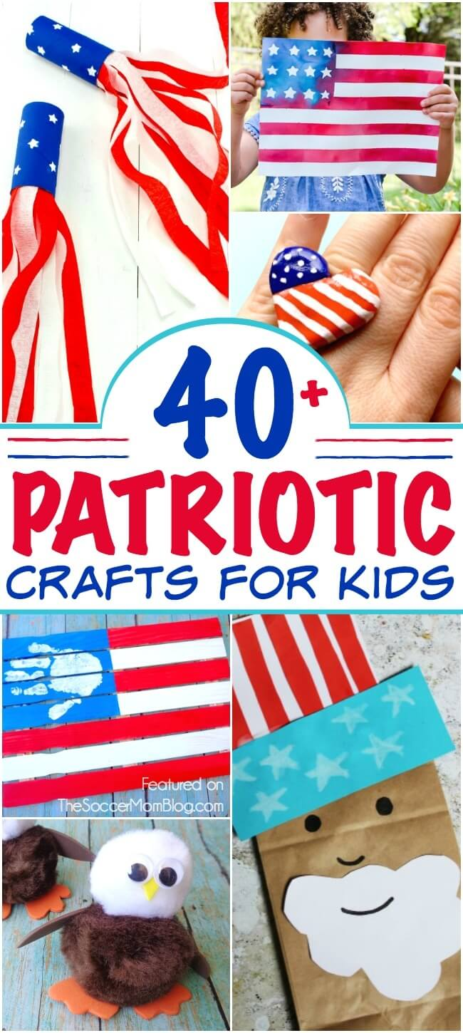 This HUGE collection of 4th of July Crafts for Kids includes everything from DIY decor ideas to fabulous fashion!
