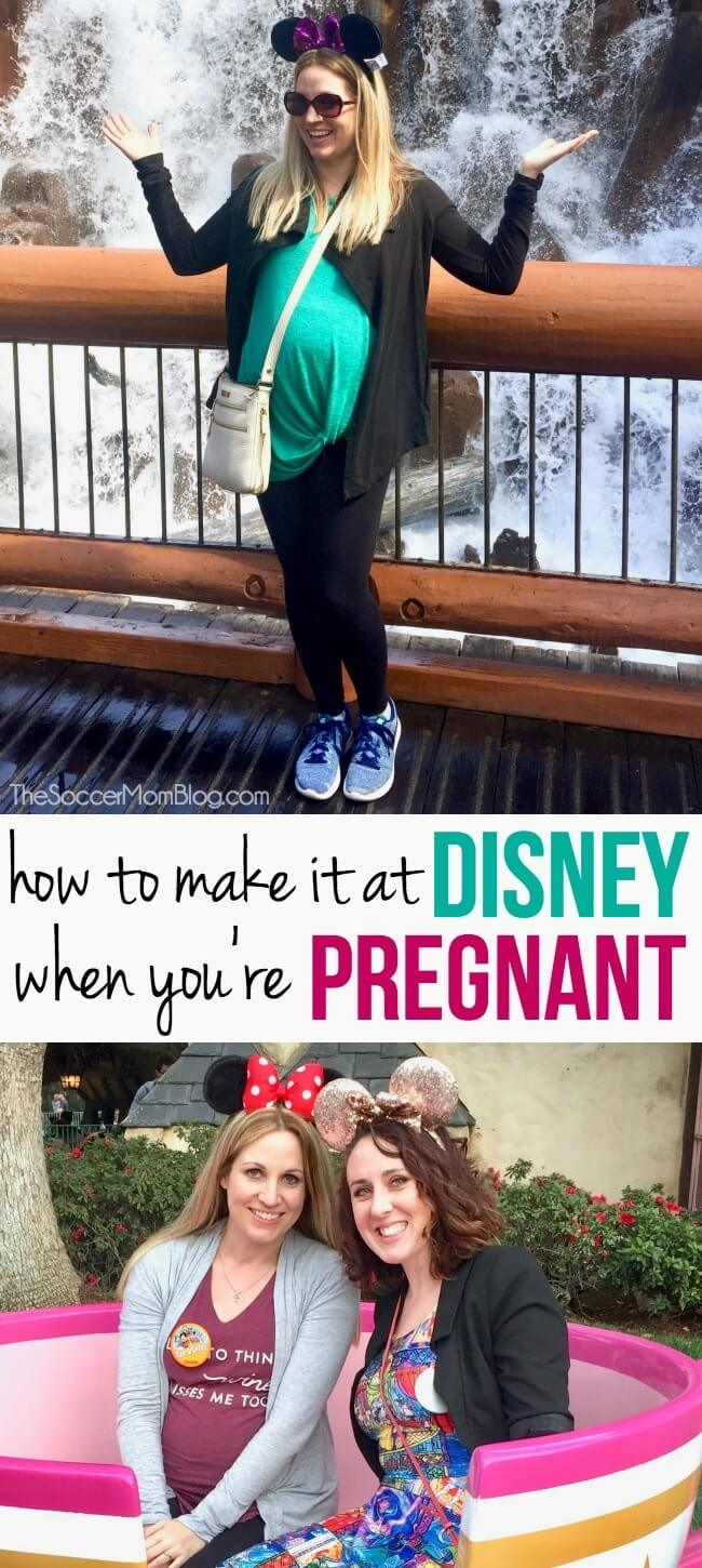 How to not only survive, but LOVE visiting Disney while pregnant! What to pack, what to do & see, can you ride the rides, and more travel tips!