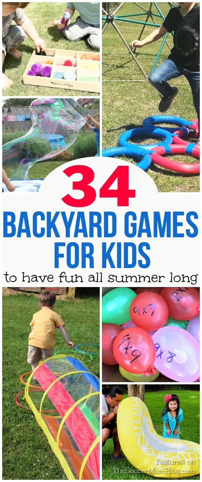 No one will be bored this summer with this huge collection of DIY Outdoor Games for Kids!