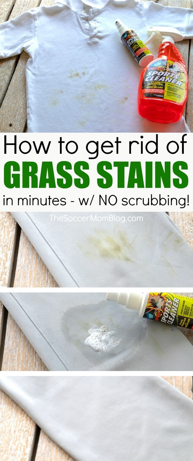 How to easily, safely, and effectively remove grass stains from kids clothes without dangerouschemicals and without heavy scrubbing!