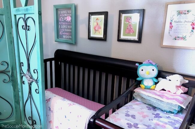 Plan an adorable baby room, even in a tiny area with these clever small space nursery hacks! 3 clever tricks to maximize storage & bedroom space.